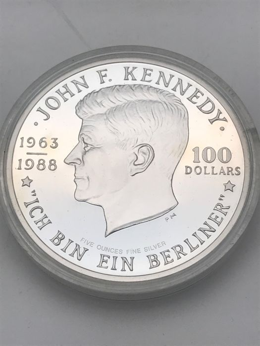 Niue 50 100 And 250 Dollars 1988 John F Kennedy Ich Bin Ein