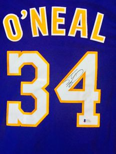 Shaquille O'Neal #34 / LA Lakers - Authentic & Original Signed Home Jersey - with Certificate of Authenticity BECKETT