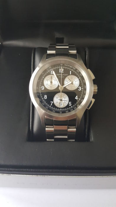 Hamilton - Full set-Kakhi Chrono Quartz-neuve - Réf. H764120  - Men - 2000-2010