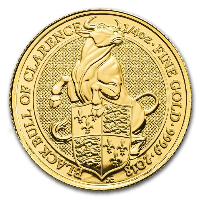 United Kingdom - 25 Pounds 2018 'Black Bull of Clarence' - ¼ oz - Gold
