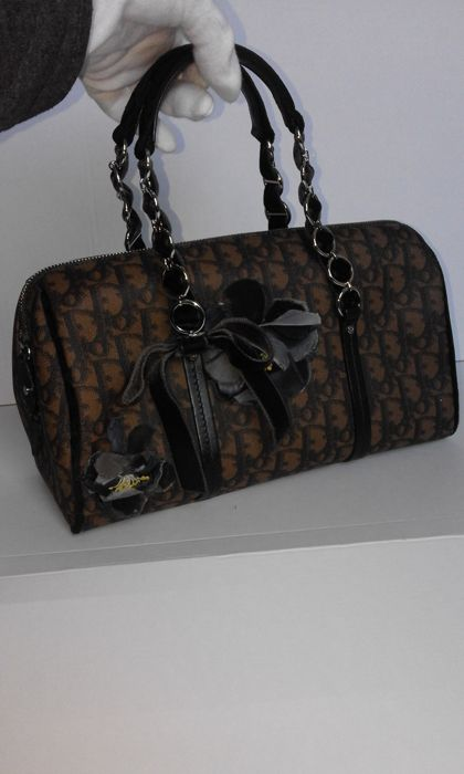 cb3bf22f46b6 Christian Dior - Monogram Trotter Romantique Boston Handbag ...