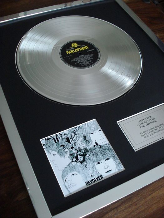 The Beatles Revolver Platinum Plated Disc Record LP Album Award