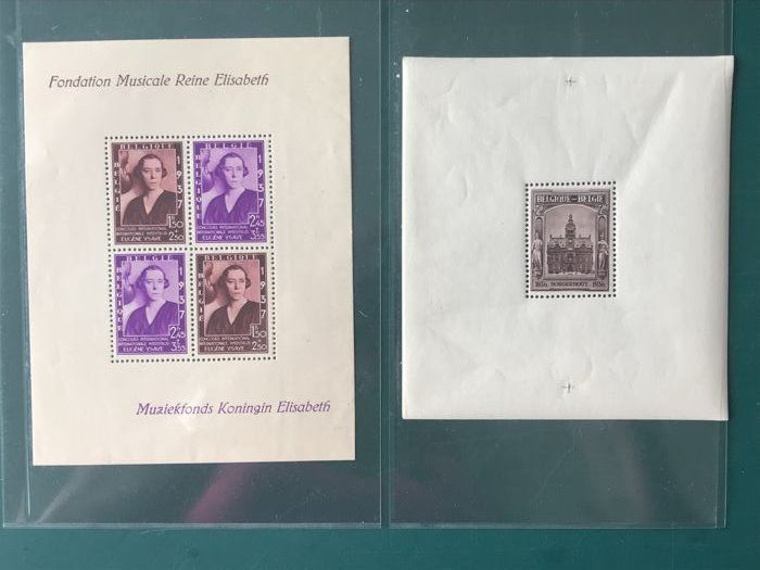 Belgium 1936/1937 - Block Borgerhout and Ysaye - OBP Block 5A + 7