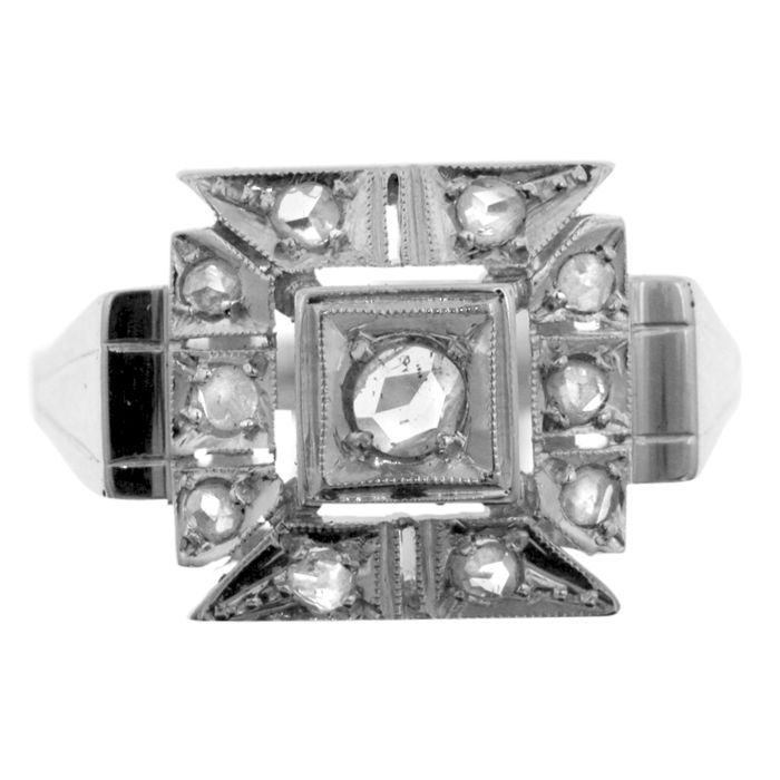 0.36 ct. Diamond Art Deco ring, as new.