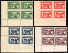 San Marino 1932 - Railway Blocks of Four Edge of Sheet - Sass. No. 30