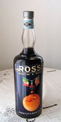 Rossi - Martini & Rossi _ Aperitif - Bottled 1940s - with a extra label, designed by the artist Jean Droit (1884 - 1961)
