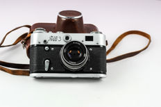 FED 3 rangefinder camera and Industar 53/2.8 objective with original case