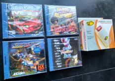 Sega Dreamcast 4x Sealed Games : Virtua Fighter 3, Metropolis Street Racer, Ready 2 Rumble TrickStyle + Force Pack