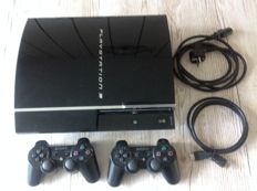 Sony PlayStation 3 with 2 controllers, all cables and 19 games like Dungeon Siege, Final Fantasy and more