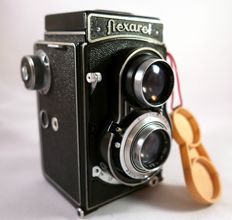 Legendary Flexaret  -IVa = Meopta - Double Format, with case and  adapter 35 mm