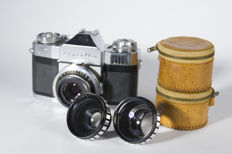 Zeiss Ikon Contaflex Prima with additional wide angle and tele
