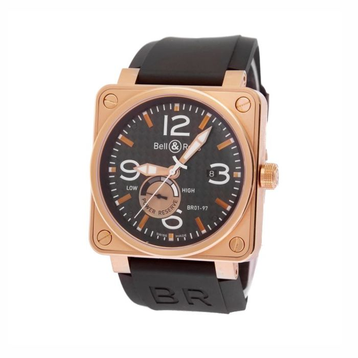 Bell & Ross - BR01-97 . 46mm very big, lot of pink gold - BR01-97 - Homme - 2000-2010