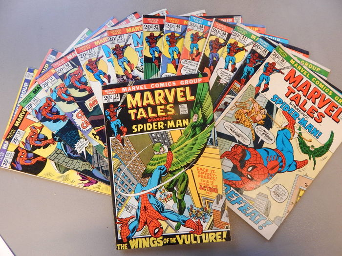 Marvel Comics - Marvel Tales #34 to 40 + 42 + 45 + 47 + 50 + 51 + 53 to 55 - 15x sc - (1972-1974)