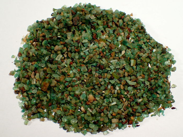 Very beautiful emerald crystals, untreated - 253,20ct