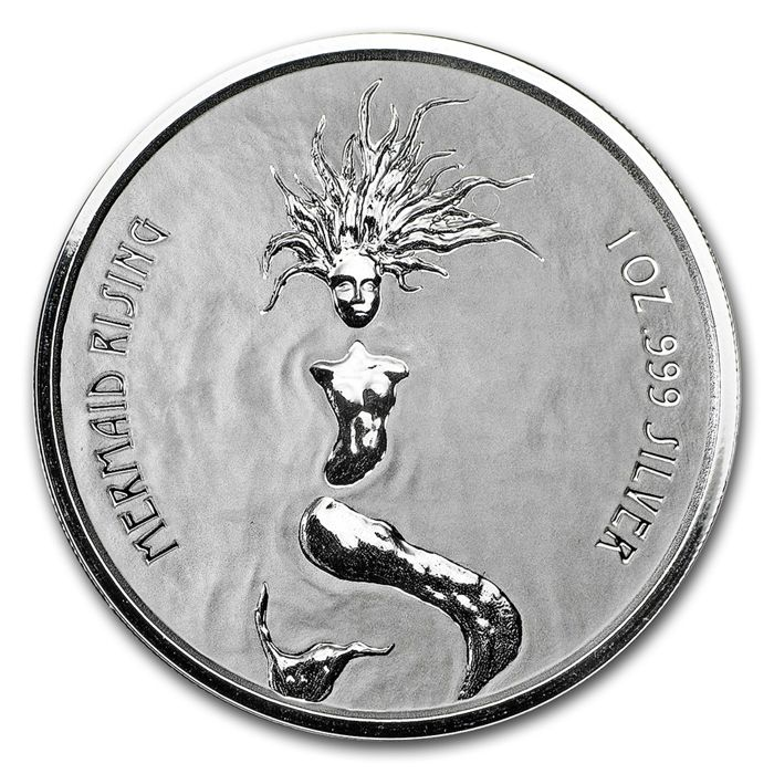 Fiji - 1 Dollar - Mermaid Rising / Mermaid - Prooflike, 2018 - 1 oz Silver