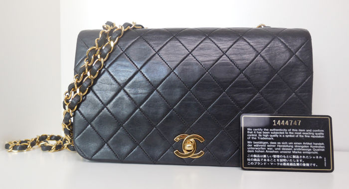 Chanel - quilted full flap single chain + authenticitycard Sac en bandoulière - Vintage