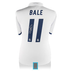 Gareth Bale personally signed Real Madrid 2016/17 shirt + official COA and photo proof