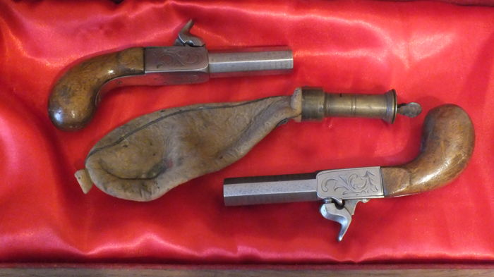 Pair of pocket pistols