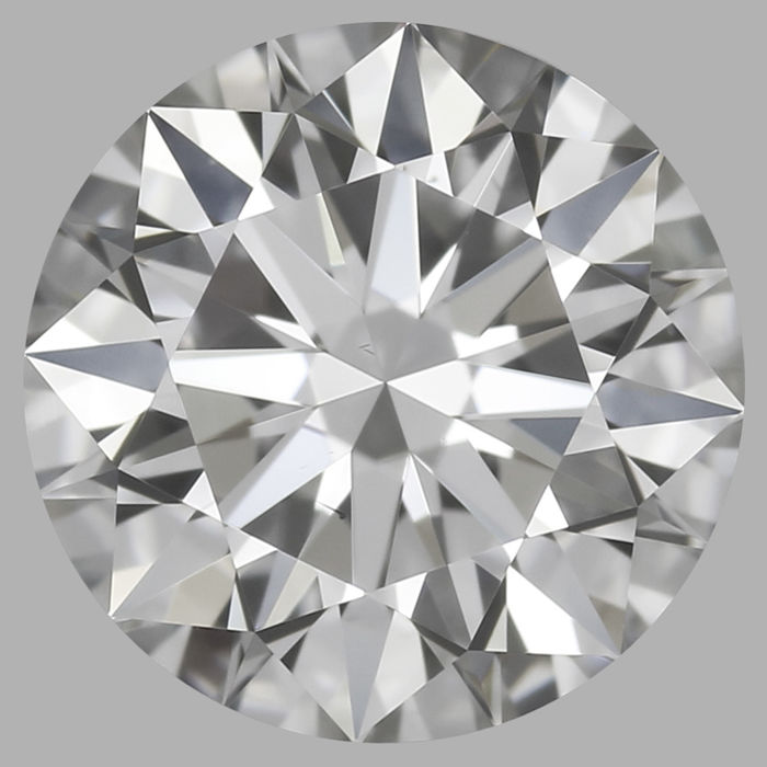 3EX 0.53 ct Round Brilliant GVS2 with Gia Certificate #-2672