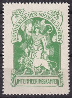 The Netherlands 1916 - Internment camp stamp - NVPH IN1, with befund