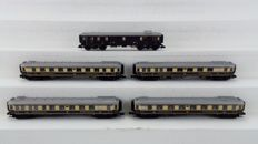 Trix N - 15780/81/82/83/84 - Passenger carriage - Five-piece set of Rheingold passenger cars - DRG