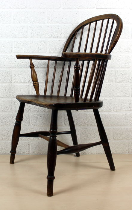 windsor style chair with bars with armrests netherlands 1st half