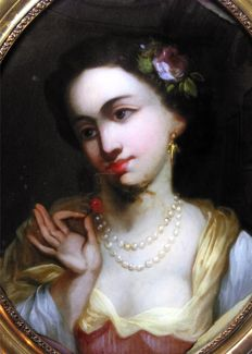 Anonymous artist (18th Century) - Portrait of a young woman