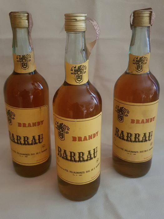 Brandy - Barrau bottled 1970a x3