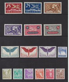 Switzerland 1923/1934 - Selection of - Michel 179x/184x, 189x/191x and 270/276