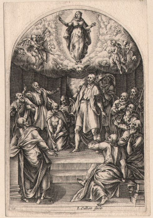Jacques Callot ( 1592-1632 ) - Assumption of Virgin,