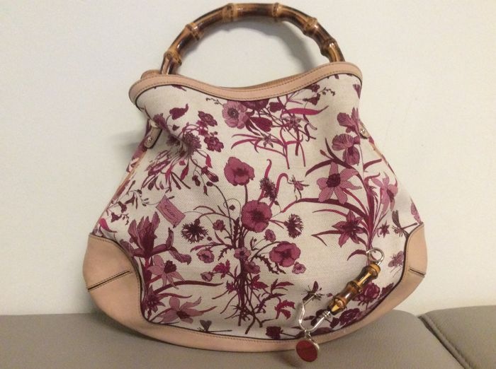 Gucci - Floral Bamboo bag