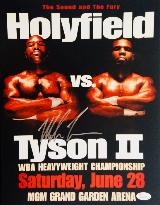 Mike Tyson /  Authentic Signed Autograph in Amazing Poster ( 28x35cm ) - with Certificate of Authenticity JSA Witnessed