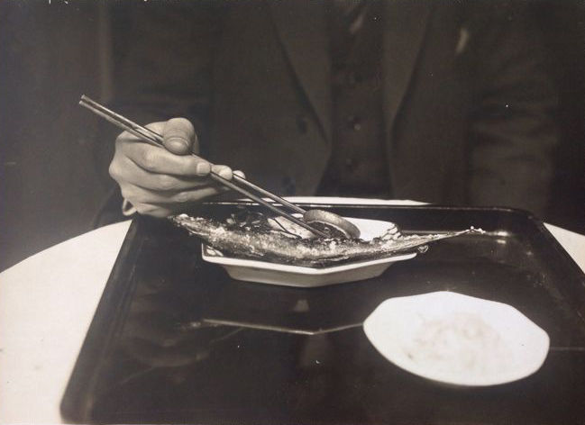 Alex Stocker (1896-1962) - How the Japanese eat, c.1930's