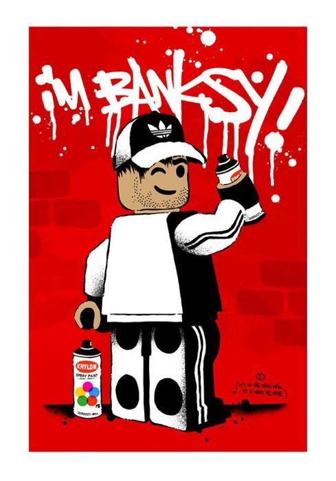 AME72 - I'm Banksy (Red)