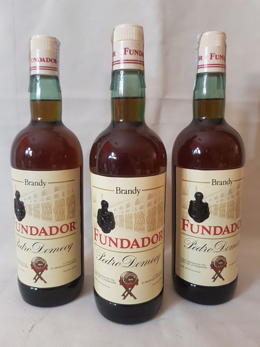Brandy -Fundador - Pedro Domeck- bottled-  80s , x3