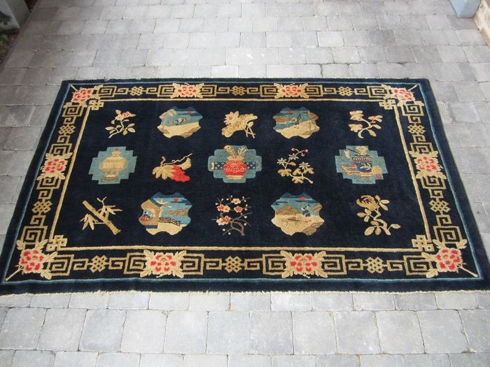 Chinese antique hand-knotted carpet Baotou