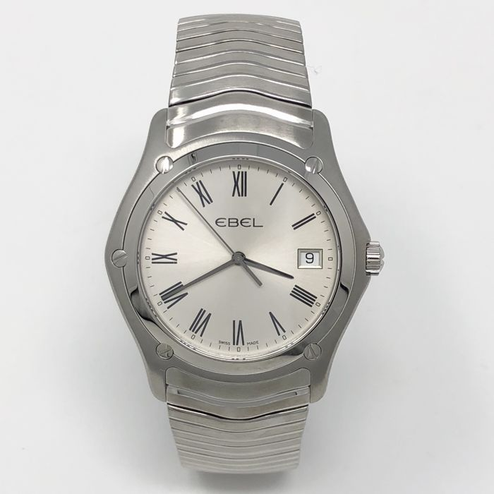 Ebel - Classi 37MM Silver Dial with Roman Markers Quartz  - 1215437 - Masculin - NEW