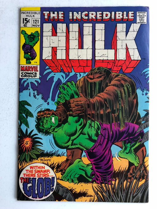 Marvel Comics - The Incredible Hulk #121 - 1st Appearance & Origin of the Glob - 1x sc - (1969)