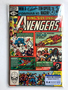 Marvel Comics - The Avengers King-Size Annual #10 - 1st Appearance Rogue & Madelyne Pryor - CBCS Graded 9.4 Raw - very high grade! - 1x sc - (1981)