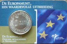 The Netherlands - 5 Euro 2004,  'Europe coin' in coin card.