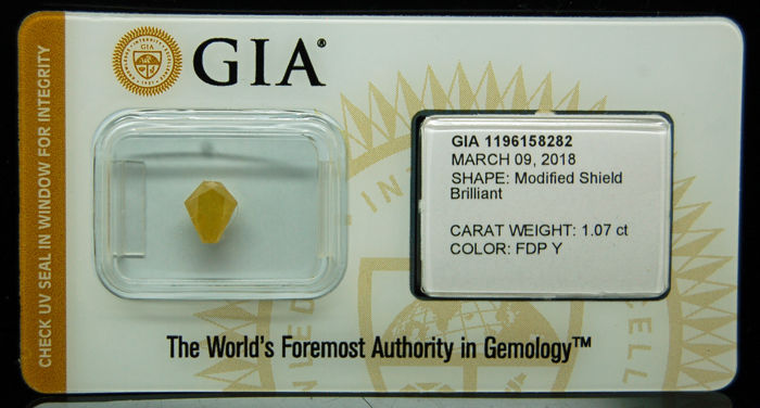 1.07 ct. GIA Certified Natural Fancy Deep Yellow, Even Diamond - NO RESERVE