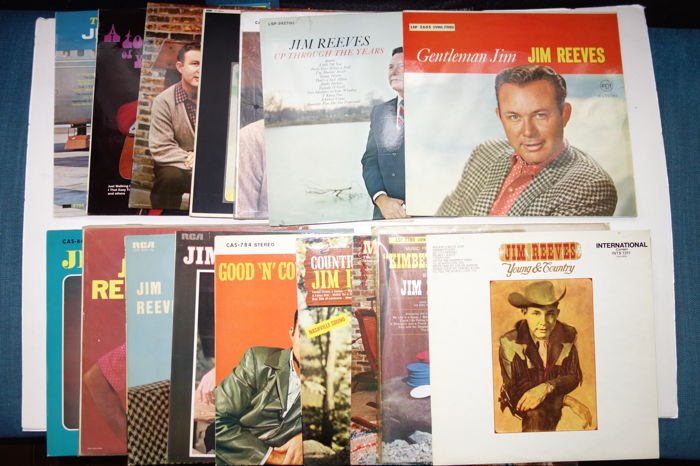Country / Nashville-sound;Lot with 16 Jim Reeves albums