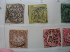 Württemberg 1850/1920 stamp collection