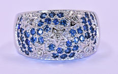 Sapphires with Diamonds, stars ring ***NO RESERVE price!***