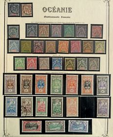 Former French Colonies 1892/1910 – Oceania – Series of Groups and various with duplicates