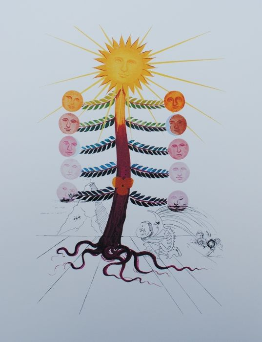 Salvador Dalí (after) - Flordali - Flowers - 8 lithographies