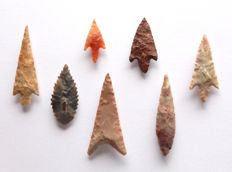 Lot with 6 arrowheads from Niger - 28 - 50 mm