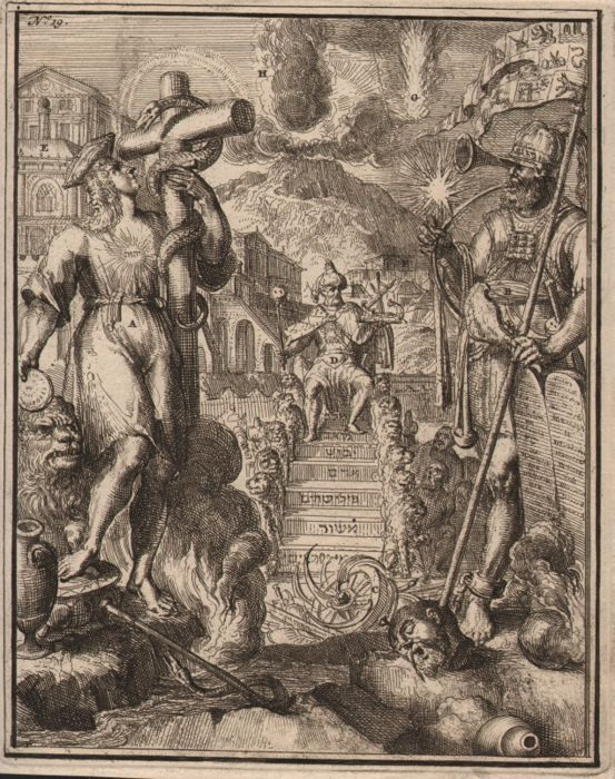 Romeyn de Hooghe (1645-1708) - Symbolism of christianity with the ark of Noah