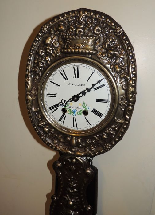 Wall clock model mini Comtoise - 'Louis Jaquine St. Etienne' - approx. 1960/1970
