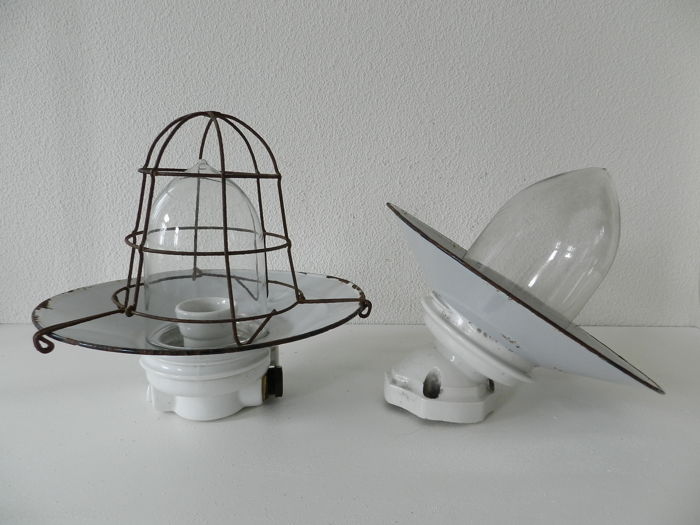 Unknown designer - Industrial wall lights (2 x)